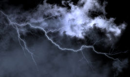 Storm and lightning. Picture, made in graphic redactor Royalty Free Stock Photo