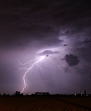 Storm with lightning - landscape Stock Photo