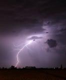 Storm with lightning - landscape Stock Photo