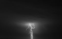 Storm and lightning Royalty Free Stock Photography