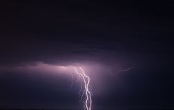 Storm and lightning Stock Photography