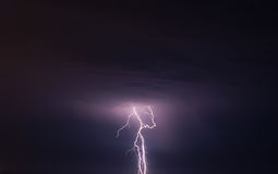 Storm and lightning Stock Images