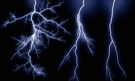 Storm lightning types royalty free stock photo