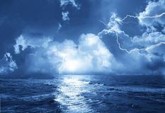 Storm with lightnings Stock Photography
