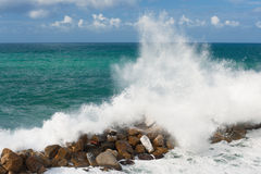 Storm in the Ligurian Sea Stock Photo