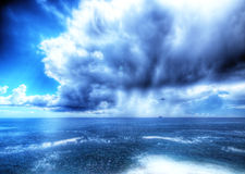 Storm the Ligurian Sea. Stock Photography