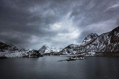 Storm at lofoten Stock Images