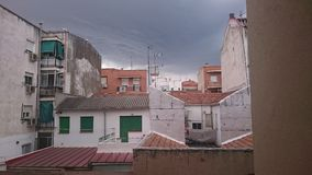 Storm in Madrid Stock Photos