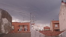 Storm in Madrid Royalty Free Stock Photos