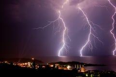 Storm in makarska Royalty Free Stock Photography