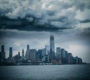 Storm in Manhattan. Stock Photos