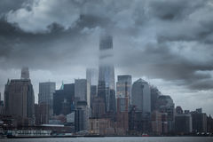 Storm in Manhattan. Royalty Free Stock Photo
