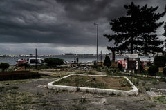Storm In Marmara Region - Turkey. Severe wind, rain and storm took over the Marmara region of the country Turkey caused flood in big city Istanbul and forced Royalty Free Stock Image