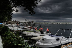 Storm In Marmara Region - Turkey. Severe wind, rain and storm took over the Marmara region of the country Turkey caused flood in big city Istanbul and forced Royalty Free Stock Photos