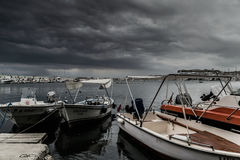 Storm In Marmara Region - Turkey. Severe wind, rain and storm took over the Marmara region of the country Turkey caused flood in big city Istanbul and forced Stock Photos