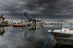 Storm In Marmara Region - Turkey. Severe wind, rain and storm took over the Marmara region of the country Turkey caused flood in big city Istanbul and forced Stock Images