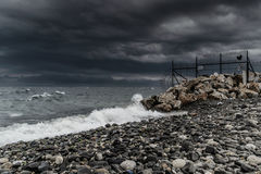 Storm In Marmara Region - Turkey. Severe wind, rain and storm took over the Marmara region of the country Turkey caused flood in big city Istanbul and forced Stock Photography
