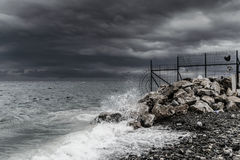 Storm In Marmara Region - Turkey. Severe wind, rain and storm took over the Marmara region of the country Turkey caused flood in big city Istanbul and forced Royalty Free Stock Photo