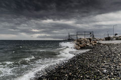 Storm In Marmara Region - Turkey. Severe wind, rain and storm took over the Marmara region of the country Turkey caused flood in big city Istanbul and forced Stock Photo