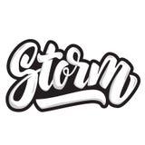 storm marquant avec des lettres la citation d'isolement sur le fond blanc Élément de conception pour l'affiche, T-shirt illustration de vecteur