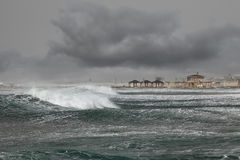 Storm by the Mediterranean sea Royalty Free Stock Photography