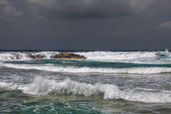 Storm by the Mediterranean sea Royalty Free Stock Photos