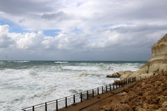 Storm on the Mediterranean Sea Stock Images