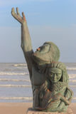 1900 Storm Memorial. Bronze storm memorial dedicated to the victims of the 1900 hurricane in Galveston, TX Royalty Free Stock Photography