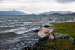 Storm on Mountain Lake Stock Photos