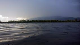 Storm in mountain lake Stock Photos