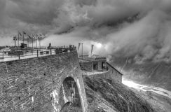 Storm in the mountains. On Austria Royalty Free Stock Images