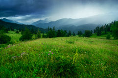 Storm in mountains Royalty Free Stock Photo