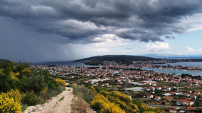 Storm clouds over adriatic sea Royalty Free Stock Photo