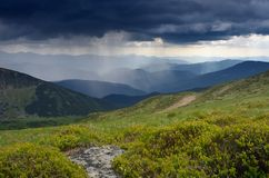 Storm in the mountains Stock Photography