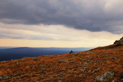 Before the storm in the mountains, Russia Royalty Free Stock Photos