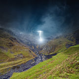 Storm in mountains Stock Photography