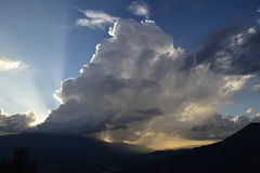 A storm at the mountains,. A thunderstorm somewhere at pindos mountains, northwestern Greece stock photos