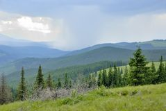 Storm in mountains. The storm in Ukrainian Carpathians Stock Image