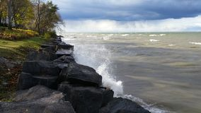 Storm moving in over Lake Ontario at Niagara-on-the-lake. Royalty Free Stock Images