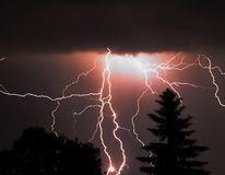 Storm at night Royalty Free Stock Photo