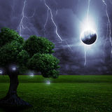 Storm in the night Royalty Free Stock Photography