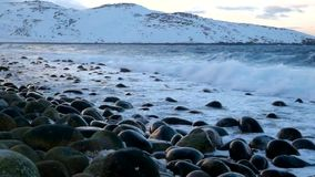 The storm in the Northern Ocean stock video footage
