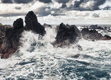 Storm in the ocean Royalty Free Stock Photos
