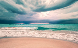 Storm in ocean. Storm in the Atlantic ocean Stock Image