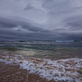 Storm on ocean Royalty Free Stock Photo