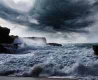 Storm on ocean Royalty Free Stock Photography