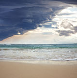 Storm on ocean Stock Photography