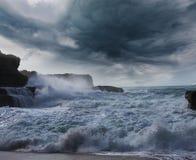 Storm on ocean Royalty Free Stock Photos