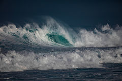Storm at the ocean. Sea water in rough conditions Stock Photos