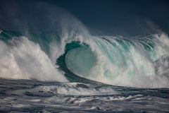 Storm at the ocean. Sea water in rough conditions Royalty Free Stock Photos